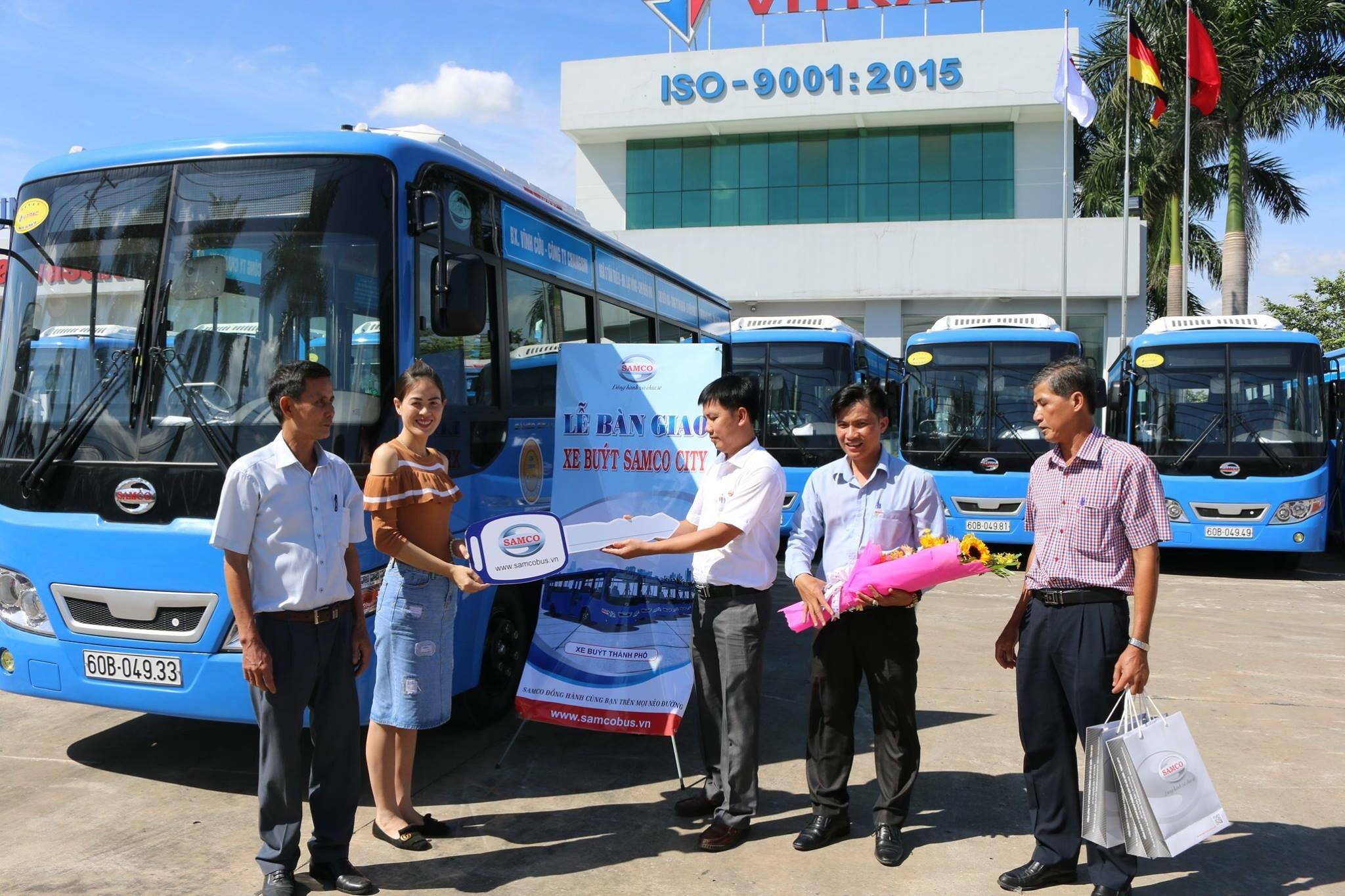 Hãng xe SAMCO tiến hành lễ bàn giao lô 12 xe buýt SAMCO CITY I.40