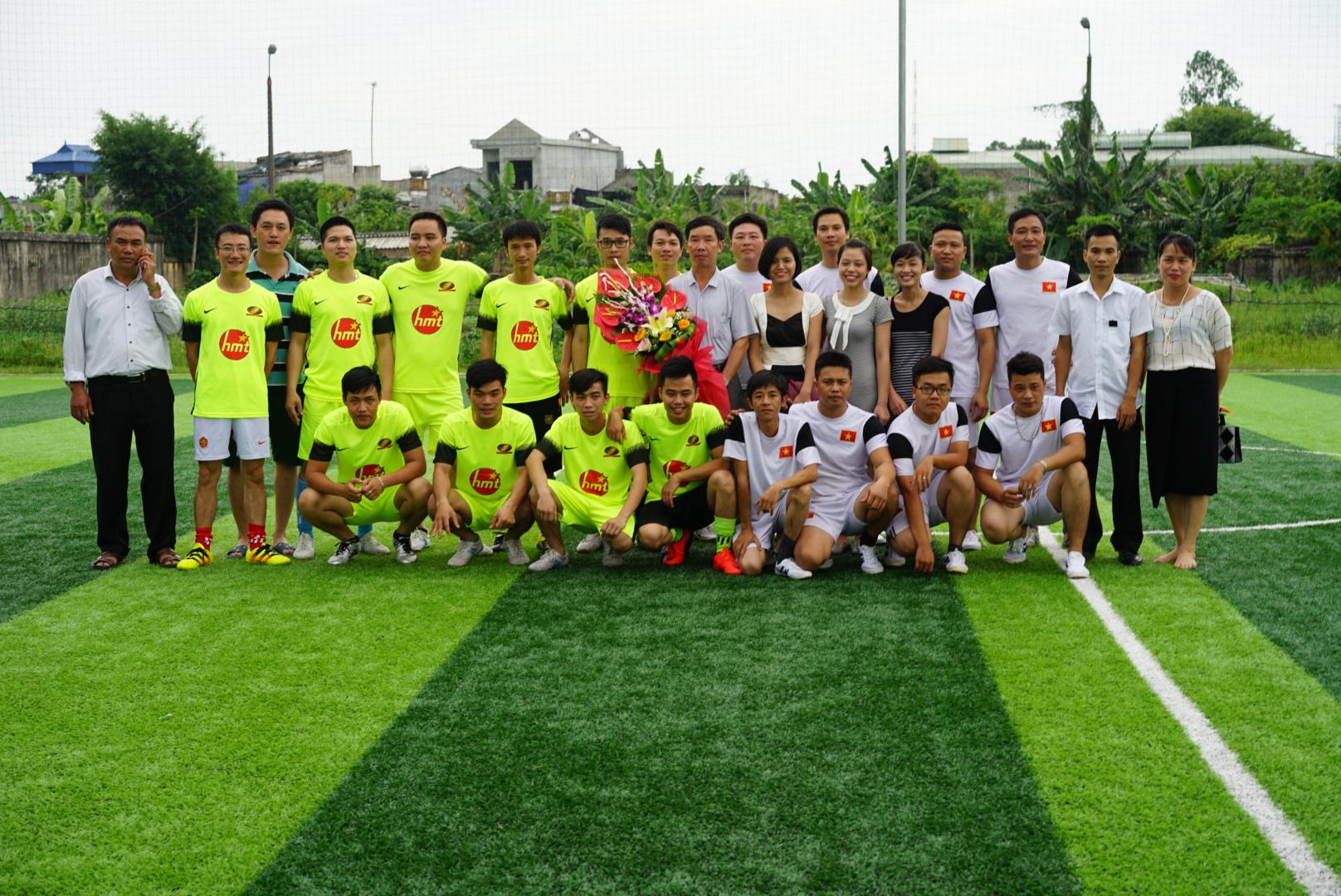 Giao lưu bóng đá giữa HMT Hà Nội và Đại Lợi Nam Định